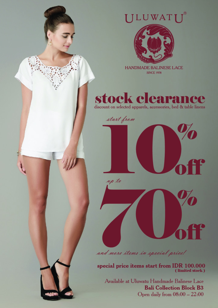 Uluwatu Clearance SALE only at Bali Collection Shopping Center