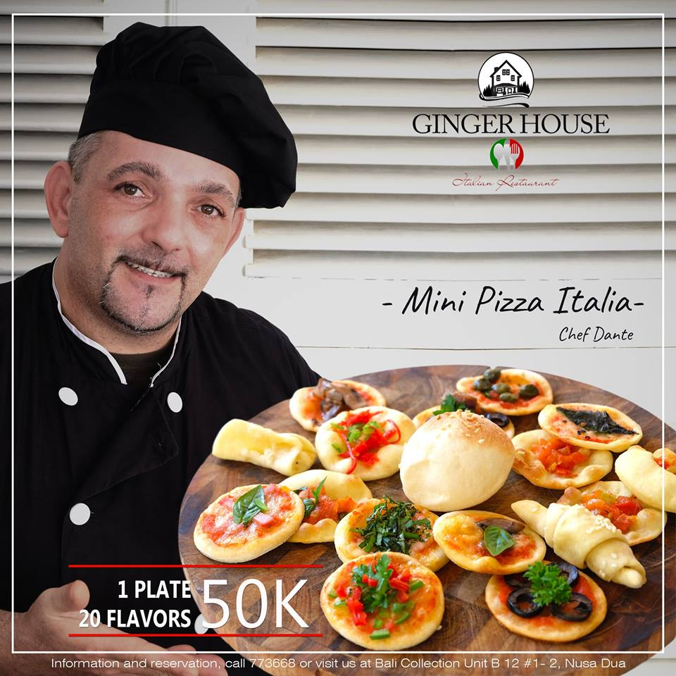 Mini Pizza: 1 pan, 20 flavors, with only 50K