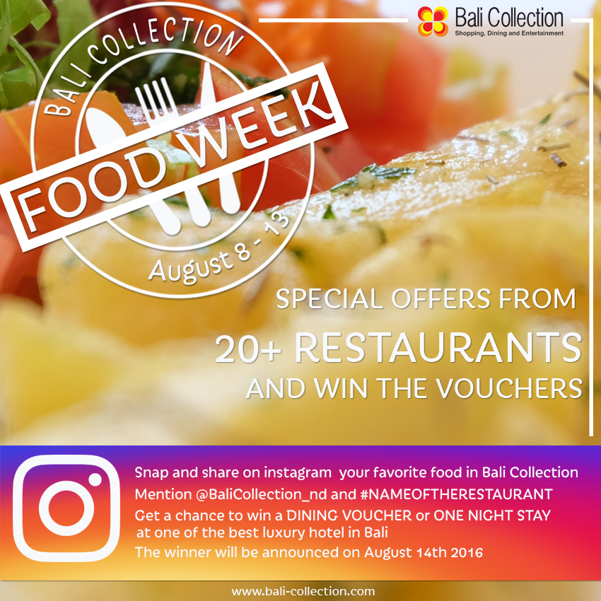 FOODWEEK at Bali Collection