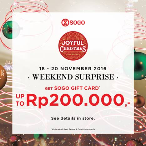 SOGO WEEKEND SURPRISE!
