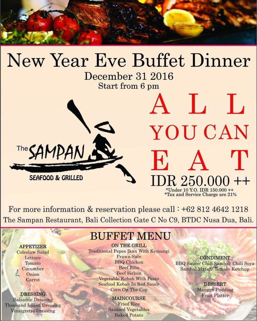 ALL YOU CAN EAT at THE SAMPAN