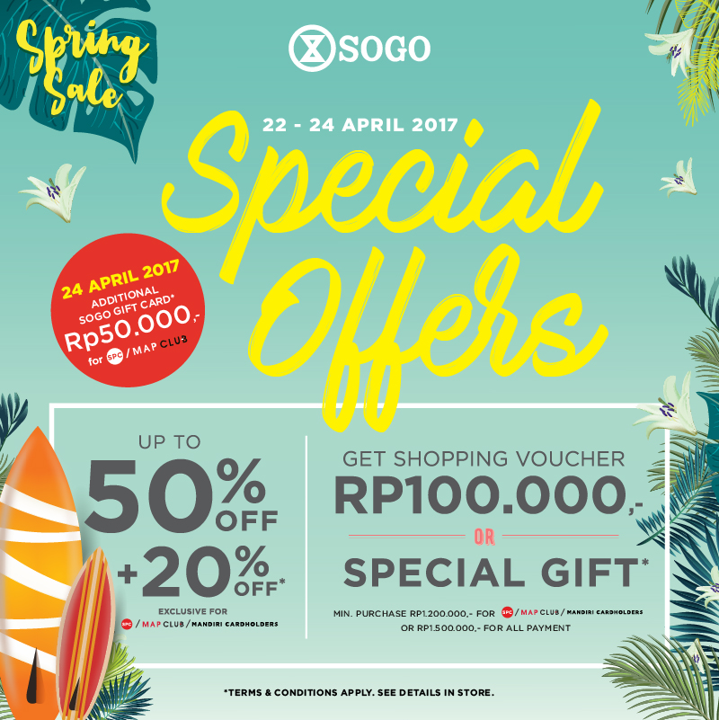 SOGO Special offers!
